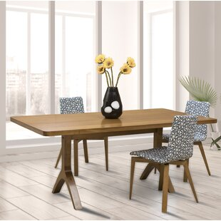 Colyt Burnished Extendable Solid Wood Dining Table Corrigan Studio