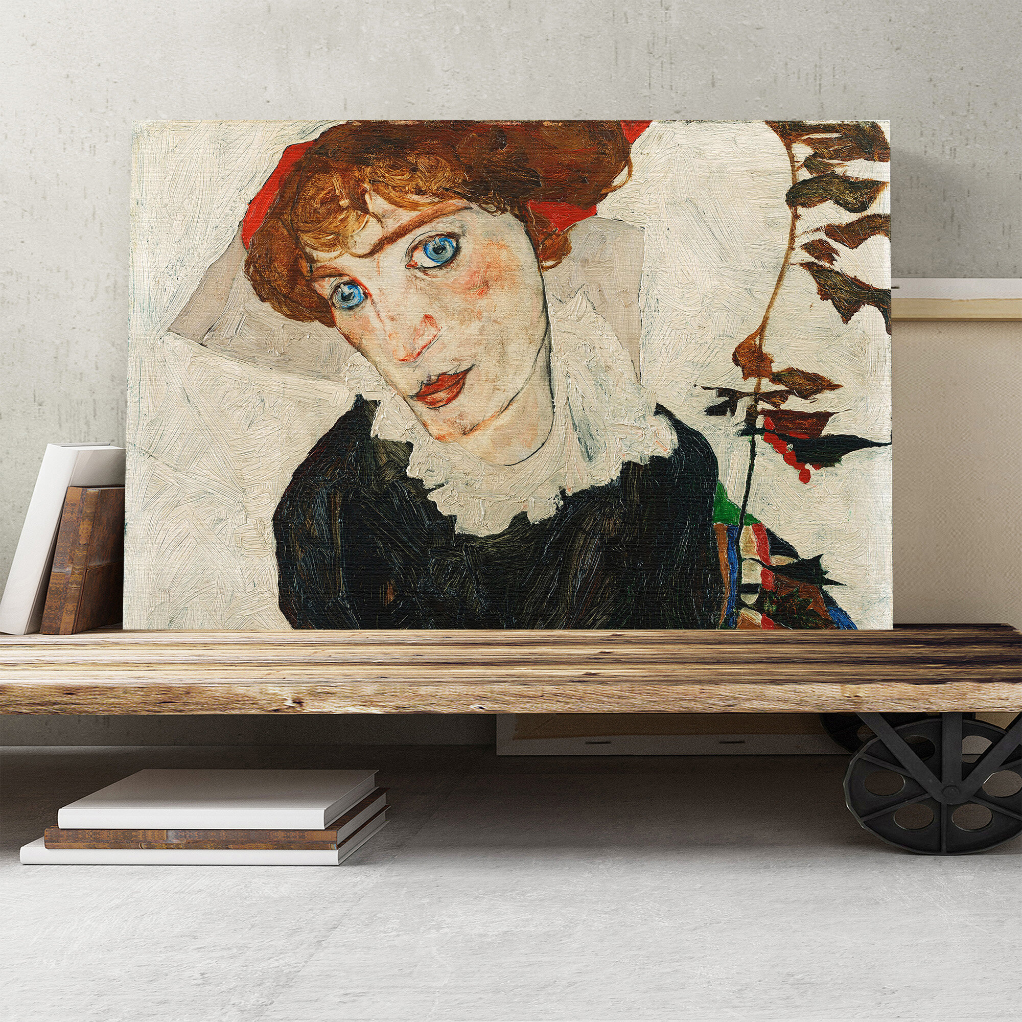 Egon Schiele Portrait of Wally Neuzil Giclee Canvas Print Paintings Poster