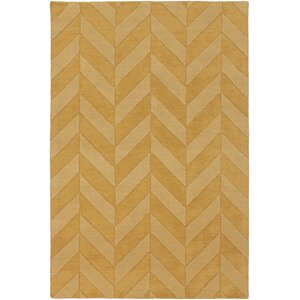 Castro Yellow Chevron Carrie Area Rug