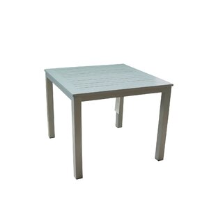 Patrica Outdoor Aluminum Dining Table