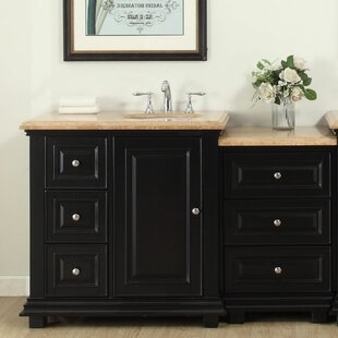 56 Single Bathroom Modular Vanity Set with Sink of Right