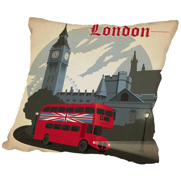 London Throw Pillow Wayfair
