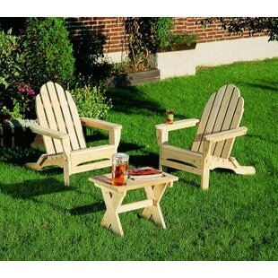 August Grove Cirebon Wood Folding Adirondack Chair