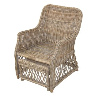 Leighton Armchair And Footstool By Bay Isle Home
