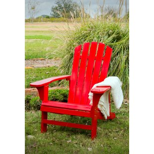 Kalista Wood Adirondack Chair by Highland Dunes