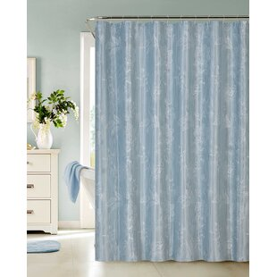 Affordable Dominique Embroidered Shower Curtain By Highland Dunes