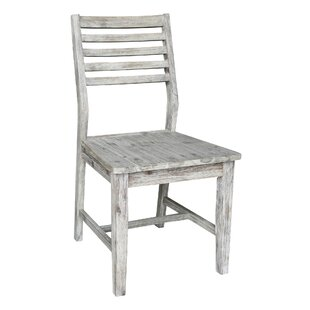 Lowndes Solid Wood Dining Chair (Set of 2) Highland Dunes