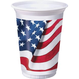 Freedoms Flag Plastic Disposable Cup (Set of 24)