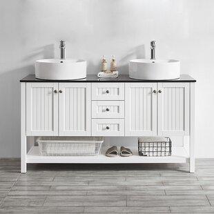 Deals Nadler 60 Double Bathroom Vanity Set ByBeachcrest Home