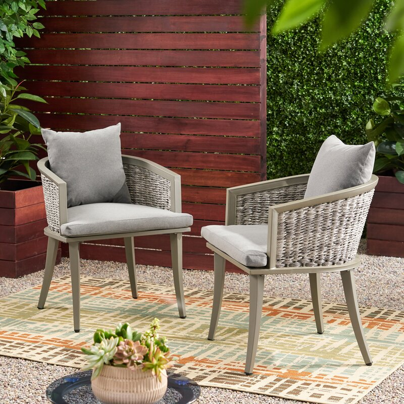 Outdoor Boho Wicker Club Patio Chair