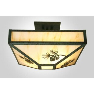 Steel Partners Pinecone 4-Light Semi Flush Mount