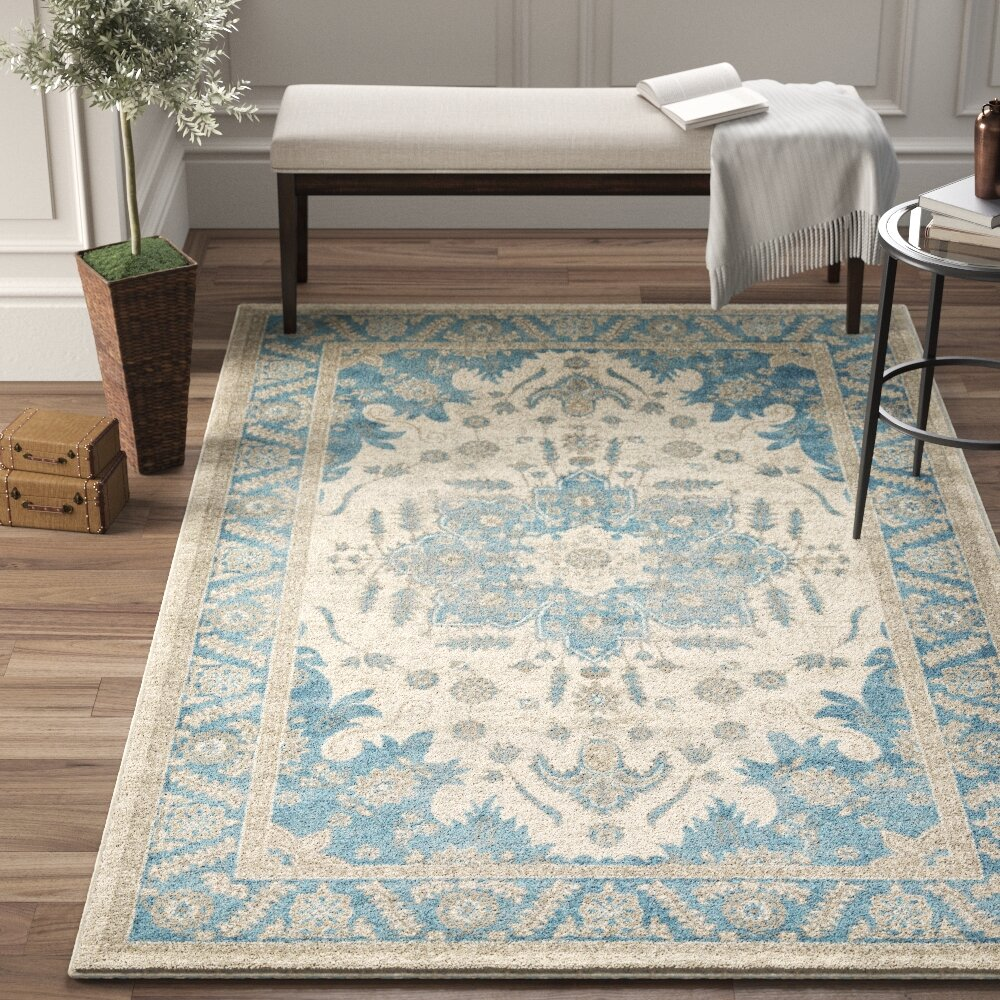 Birch Lane Heritage Jaiden Creamblue Area Rug Reviews Wayfair