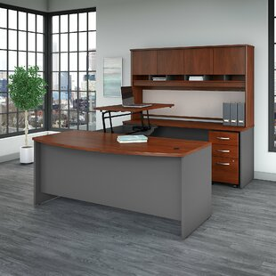 Series C Sit to Stand U Shaped Desk with Hutch