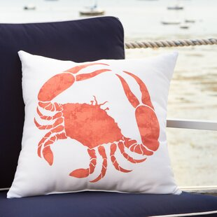 Cedarville Crab Walk Outdoor Pillow