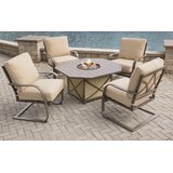 Drees 5 Piece Sunbrella Dining Set with with Cushions