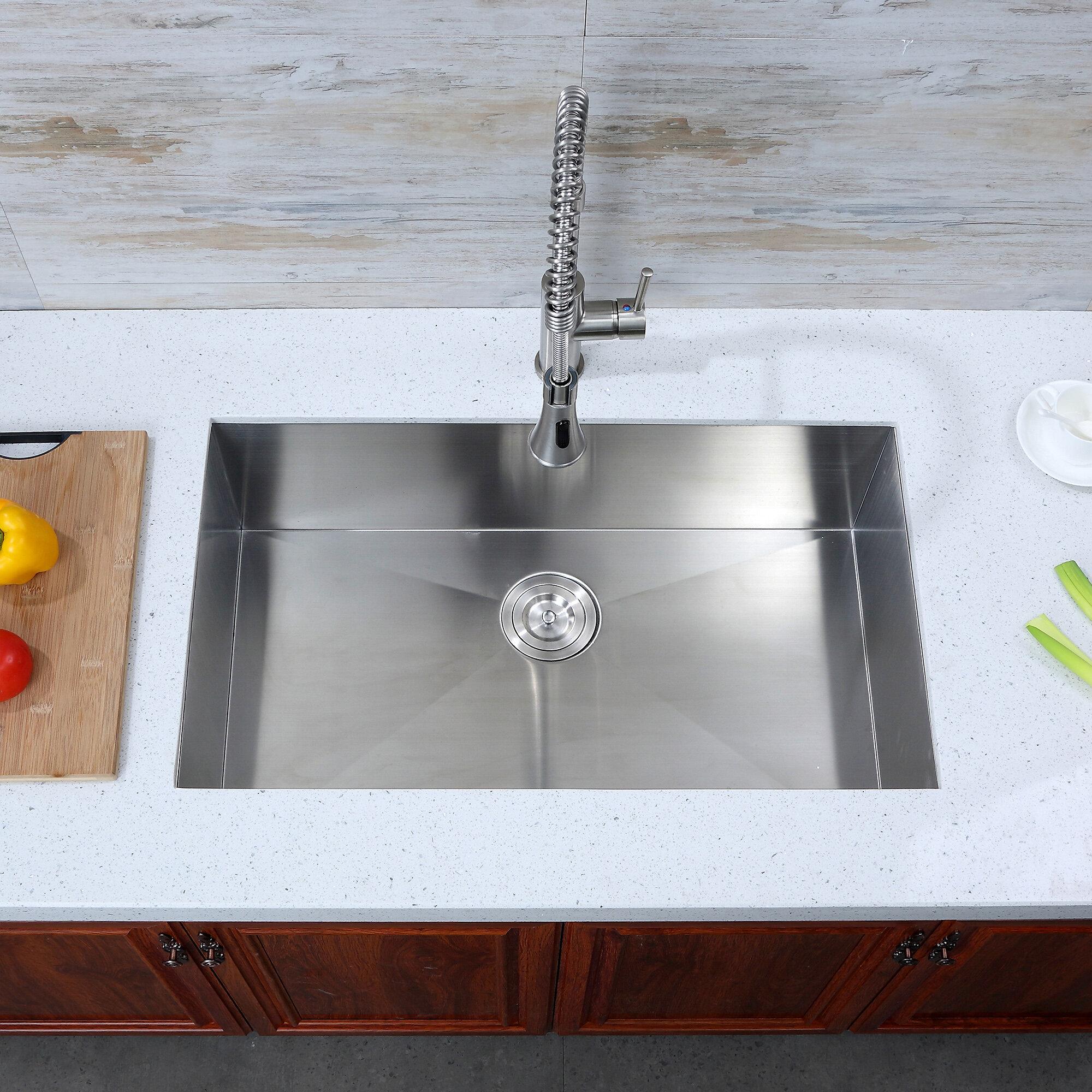 Luxier 30 L X 18 W Undermount Kitchen Sink Reviews Wayfair