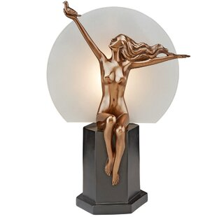 Design Toscano The Carrier Pigeon Art Deco Nude Woman Illuminated Figurine