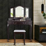 Garver Vanity Set with Stool by Canora Grey