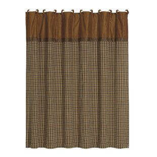 Furiani Polyester Houndstooth Single Shower Curtain