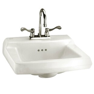Compare prices Baby Devoro Ceramic 20 Wall Mount Bathroom Sink with Overflow By American Standard