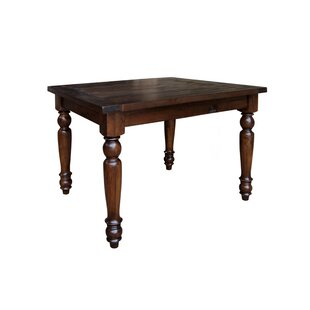 Muncy Counter Height Solid Wood Dining Table August Grove