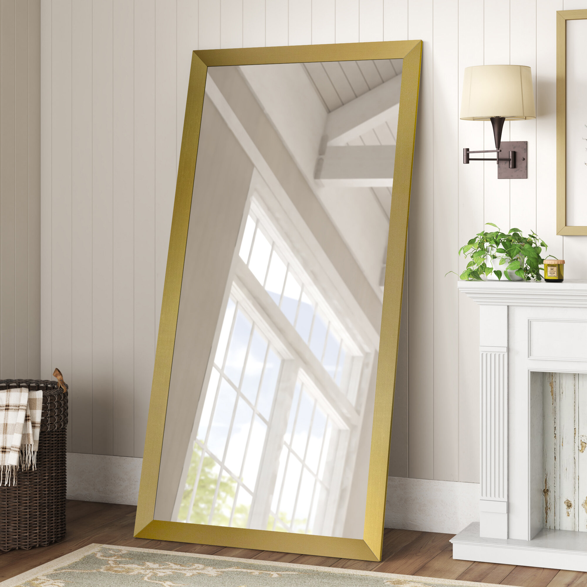 Gold Traditional Floor Mirrors You Ll Love In 2021 Wayfair