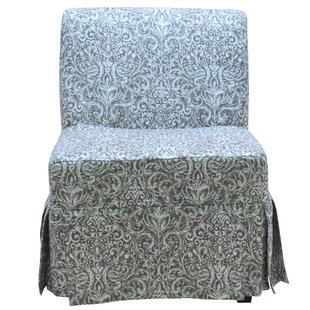 Fox Hill Trading Penelope Skirted Armless Slipper Chair