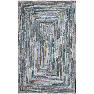 Mueller Hand Tufted Cotton Light Gray Area Rug by Bloomsbury Market