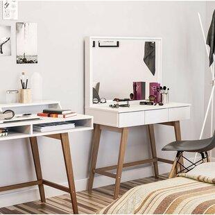 Tailings Urban Vanity with Mirror by Ebern Designs