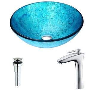 Buying Accent Glass Circular Vessel Bathroom Sink with Faucet By ANZZI