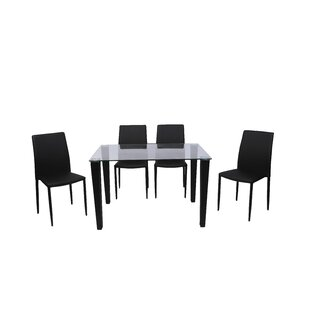 Henagar Dining Set With 4 Chairs By 17 Stories