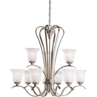 Alcott Hill Barile 9-Light Shaded Chandelier