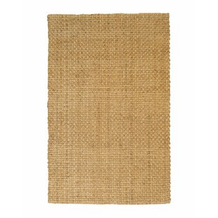 Fuentes Hand-Knotted Beige Area Rug by Rosecliff Heights