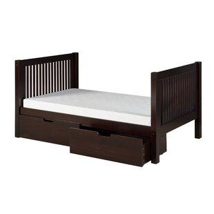 Bargain Oakwood Twin Slat Bed with Storage by Harriet Bee Reviews (2019) & Buyer's Guide