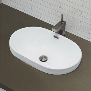 Bathroom Sinks Wayfair semi recessed bathroom sinks | wayfair