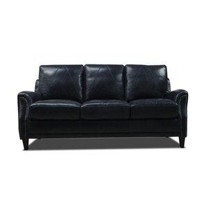 Trent Austin Leather Sofa   Wayfair
