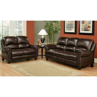 Kahle Leather 2 Piece Living Room Set