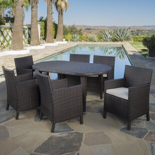 Red Barrel Studio Rhawnhurst Outdoor 7 Piece Dining Set with Cushions