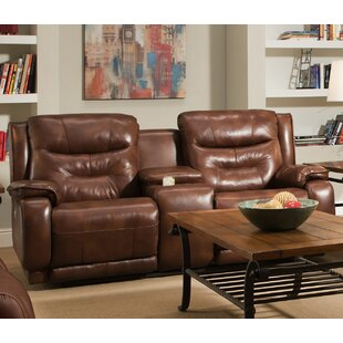 Southern Motion Crescent Leather Reclining Loveseat