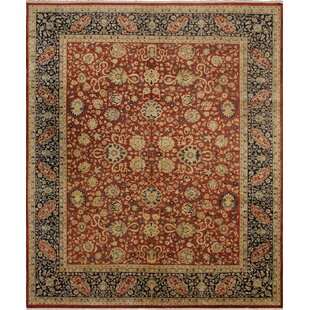 One-of-a-Kind Mickey Hand Knotted Wool Red/Blue Rug ByIsabelline