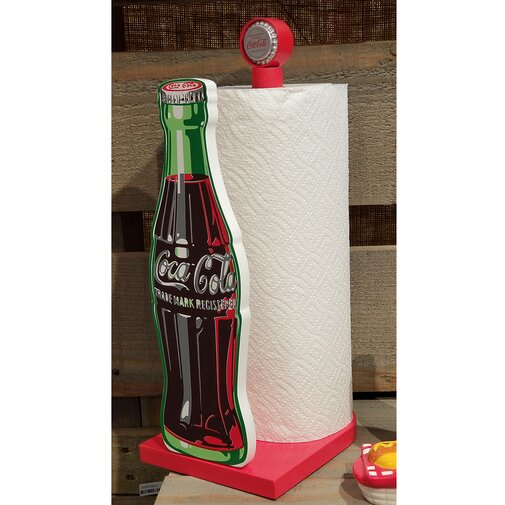 Coca-Cola Contour Bottle Free-Standing Paper Towel Holder