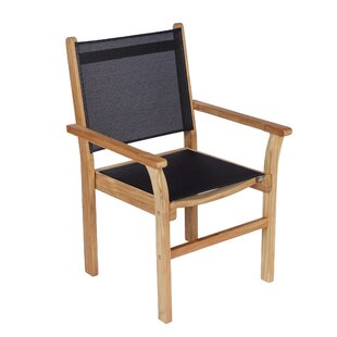 Dominy Stacking Teak Patio Dining Chair