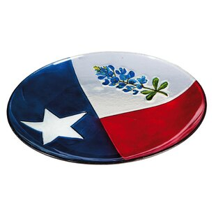 Evergreen Flag & Garden Texas State Flower Birdbath