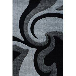 Amaranthine Grey/Black Rug By 17 Stories