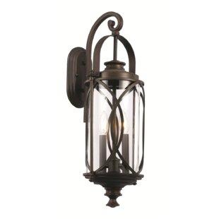 Bungalow Rose Ginsburg 2-Light Outdoor Wall Lantern
