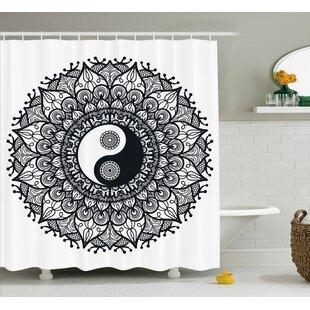 Ying Yang Decor Mandala Yoga Single Shower Curtain