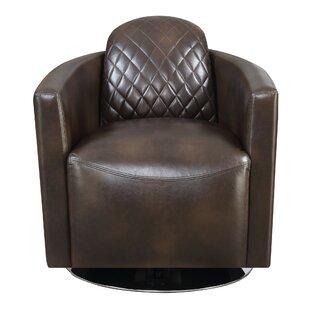 Mayweather Swivel Barrel Chair by Williston Forge