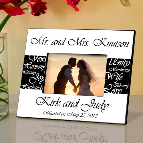 wedding gift Honeymoon picture frame custom picture frame personalized picture frame picture frame initial frame wedding picture frame