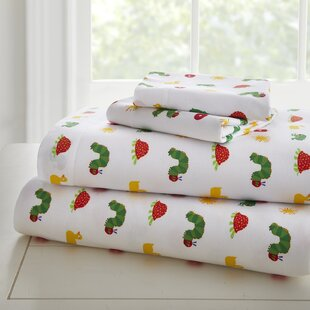The Very Hungry Caterpillar 205 Thread Count 100% Cotton Sheet Set