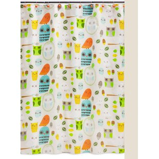 Hepler Hoot Cotton Single Shower Curtain